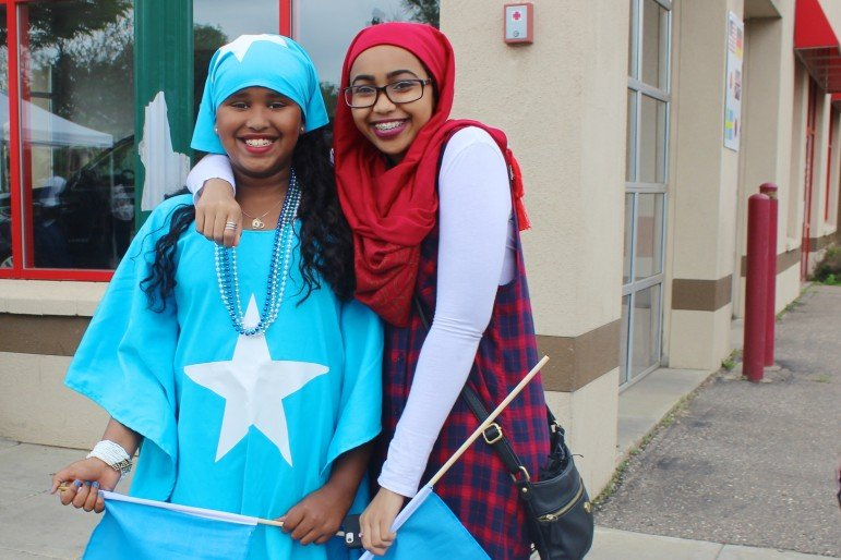 Fatima Yusuf and Saamia Ali celebrated Somali Independence Day together with flags.