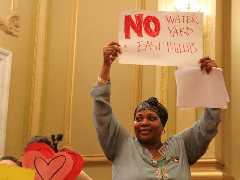 Ward nine residents packed Friday's city council meeting