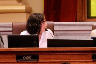 Council member Cano was the main force against the water yard on the city council. Photo by Kayla Steinberg