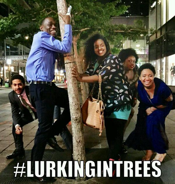 lurking in trees