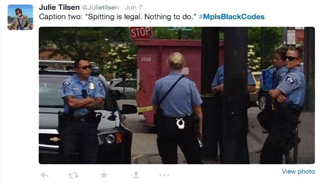 police-tweet-spitting