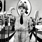 Charlie Chaplin as Adenoid Hynkel in his 1940 satire The Great Dictator. All images from Chaplin films made from 1918 onwards, Copyright © Roy Export S.A.S  Charles Chaplin and the Little Tramp are trademarks and/or service marks of Bubbles Inc. S.A. and/or Roy Export.