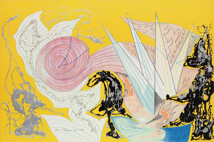 Bruce Anderson, untitled, 1986, 40 x 60 inches, color pencil, enamel on museum board
