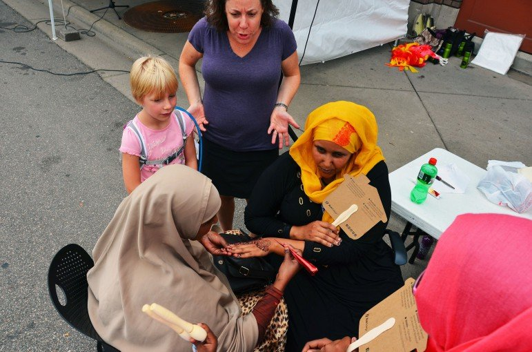 A henna tattoo artist near Cedar Avenue