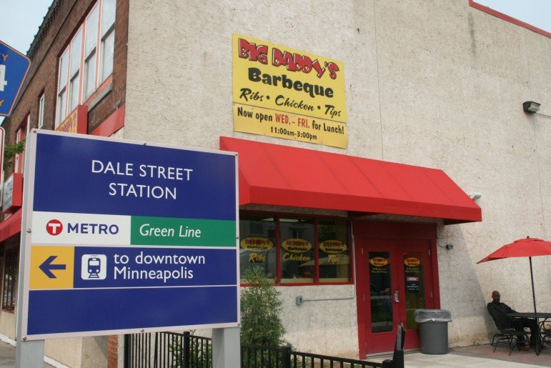 Big Daddy's is located at the Green Line's Dale Street station.
