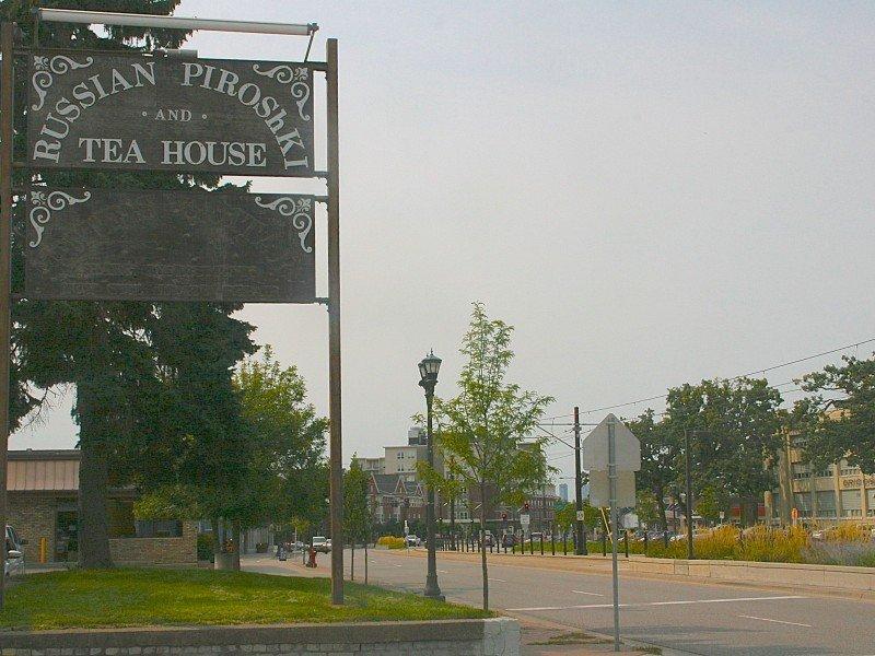 Russian Tea House big sign   street