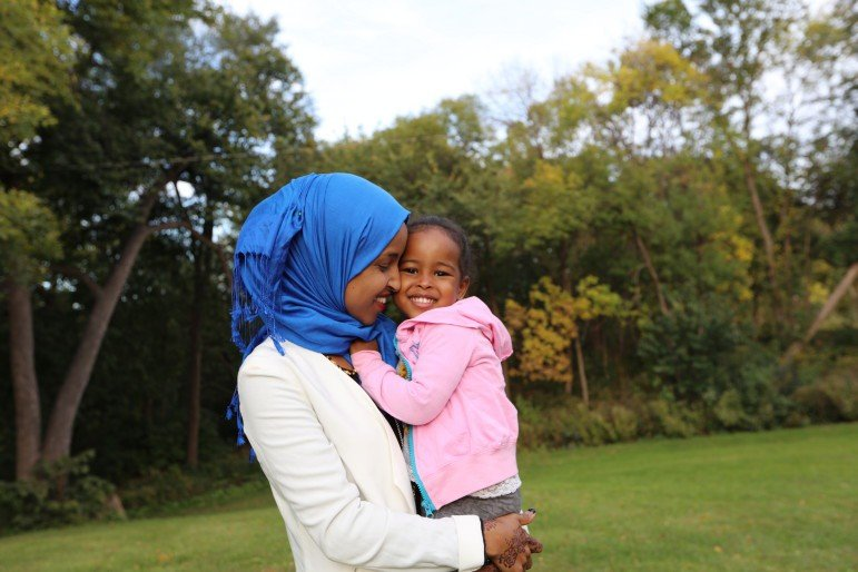 """""""Because I'm a mom, that makes me concerned for the future,"""" Omar said. Photo by Conrad Zbikowski."""