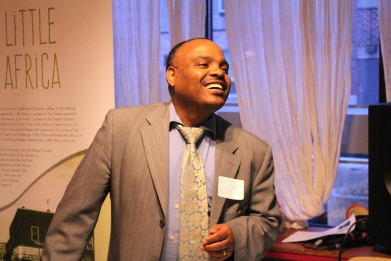 African Economic Development Solutions' Executive Director Gene Gelgelu. Photo by Cristeta Boarini.
