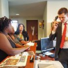 Activists request a meeting with Speaker of the House Rep. Kurt Daudt (R-Springfield) on May 19 to discuss the United Black Legislative Agenda, only to be met with a call to security. Photo by Cirien Saadeh.