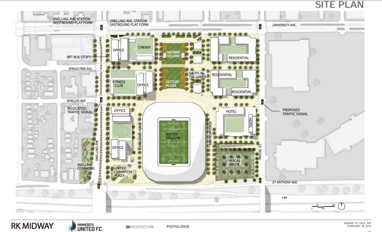Minnesota United FC stadium Master Plan