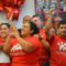 Members of CTUL celebrate after the announcement. Photo courtesy of Michael Moore, Union Advocate.