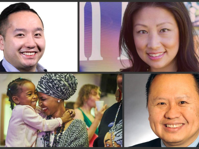 Clockwise from left, state Rep.-elect Fue Lee, Brooklyn Park Councilmember-elect Susan Pha, state Rep.-elect Ilhan Omar and state Senator Foung Hawj, all of whom won elections in Minnesota this year.