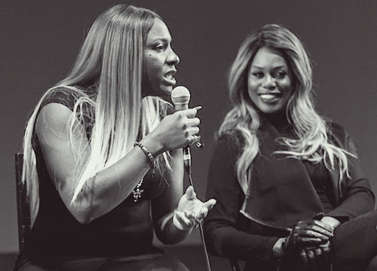 CeCe McDonald and Laverne Cox. Photo by Sally Nixon.