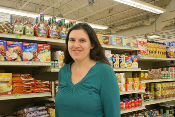 Sara Cooper, owner of Cooper's Foods at the kosher section of her market. (Photos by Stephanie Fox)