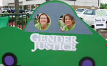 Lisa Stratton, right, and Jill Gaulding (Photo courtesy of Gender Justice)