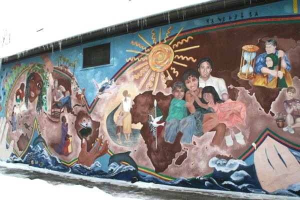Mural on side of Joseph's Mexican and Lebanese Market (All photos by Stephanie Fox)
