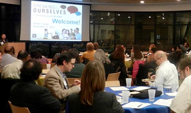 "More than 80 community members and service providers attended the ""Speaking For Ourselves"" kick-off event held on Monday, Dec. 17. (Photo courtesy of Amherst H. Wilder Foundation)"