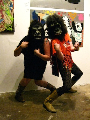 A fundraiser for the Guerrilla Girls project was held at Cult Status Gallery. Photos courtesy Steven Lang, except bottom photo by Joseph Francis (Creative Commons).