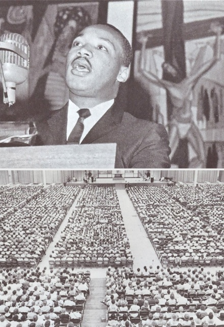 Dr. Martin Luther King, Jr. at the 1961 Luther League Convention in Miami Beach.