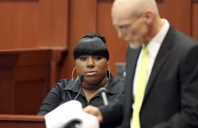Rachel Jeantel, friend of Trayvon Martin,testifying as a witness during the George Zimmerman Trial.