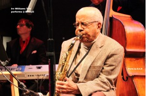 Saxophonist Irv Williams, 93, kicked off the BMA anniversary event. (Photos by B.A.R.)