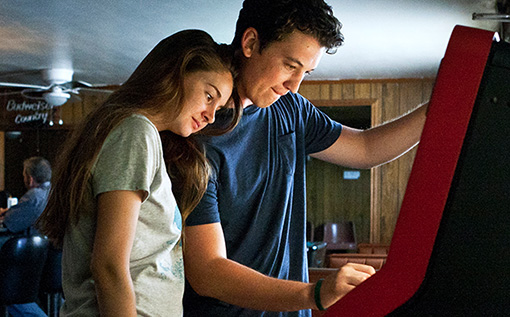 Shailene Woodley and Miles Teller in The Spectacular Now.