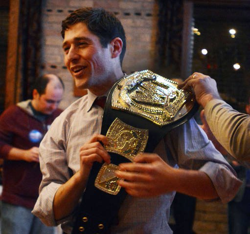 Minneapolis attorney Jacob Frey announces his victory over Ward 3 councilwoman Diane Hofstede.By    Lisa Persson