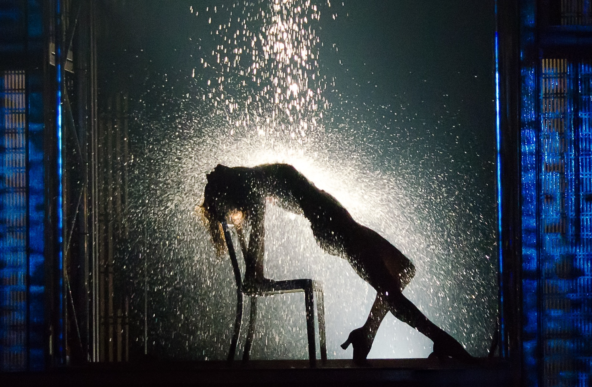 Emily Padgett in Flashdance the Musical. Photo by Kyle Froman, courtesy Hennepin Theatre Trust.