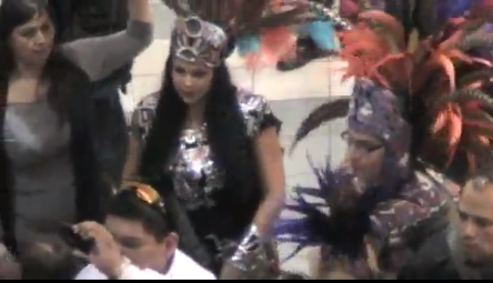 Dancers at Idle No More Flash Roundy at Mall of America