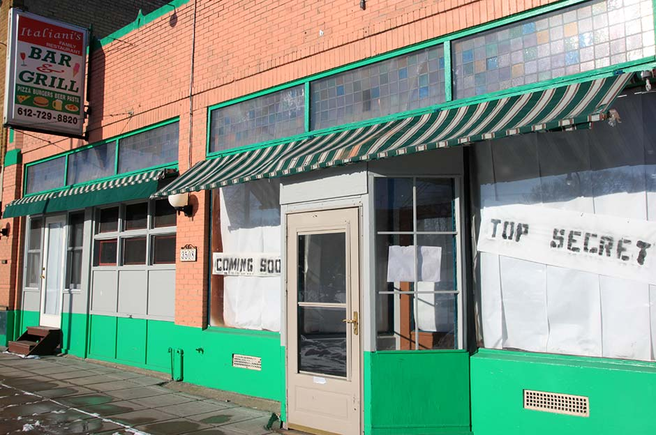 The future home of Zeke's Unchained Animal. The interior is undergoing a major renovation prior to opening.