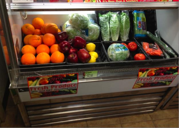 Fruits and veggies at Penn Gas Stop. (Photo by Makula Dunbar)