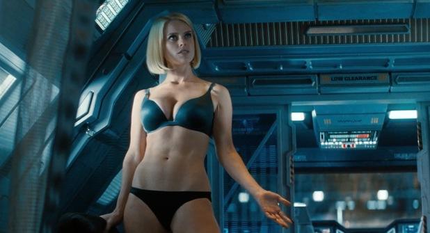 Alice Eve as molecular biologist Dr. Carol Marcus in Star Trek Into Darkness.