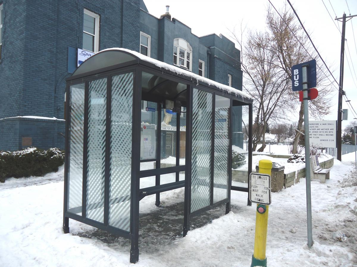 Henry High Student was attacked at this bus shelter at Oak Park Ave. and Penn Ave. N. in North Minneapolis