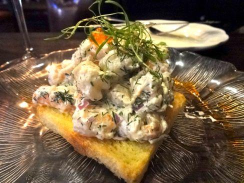 Mona shrimp on brioche