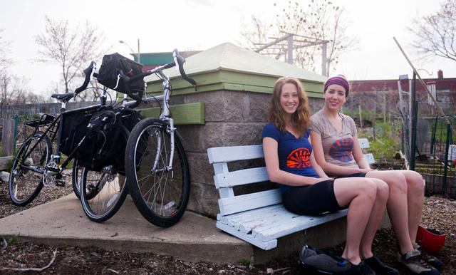 Recent University graduates Siri Simons and Christy Newell will be biking the length of the Mississippi River from New Orleans to Itasca this summer. Along the way, they will visit a number of different cities and farms so that they can discuss new ideas, educate young people about food, and encourage them to be interested in agriculture and farming. (Photo by Jaak Jensen)
