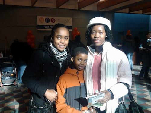 Naomi, Louis and Deb Cargeor