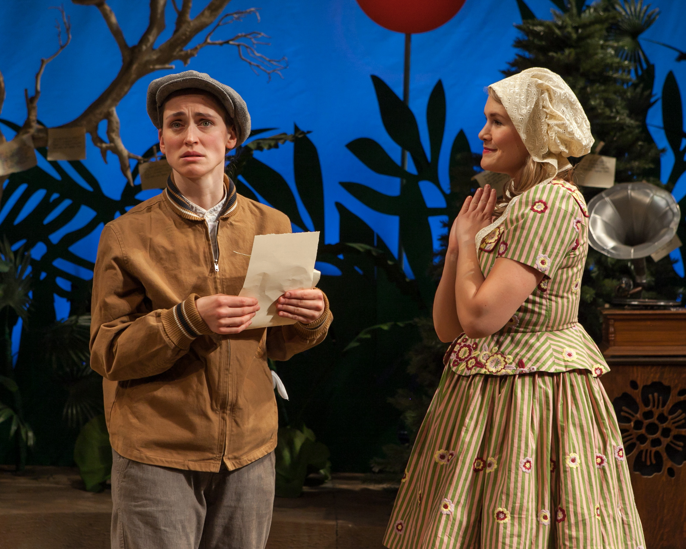 Elizabeth Stahlmann and Megan Bartle in As You Like It. Photo by Heidi Boehnenkamp, courtesy Guthrie Theater.