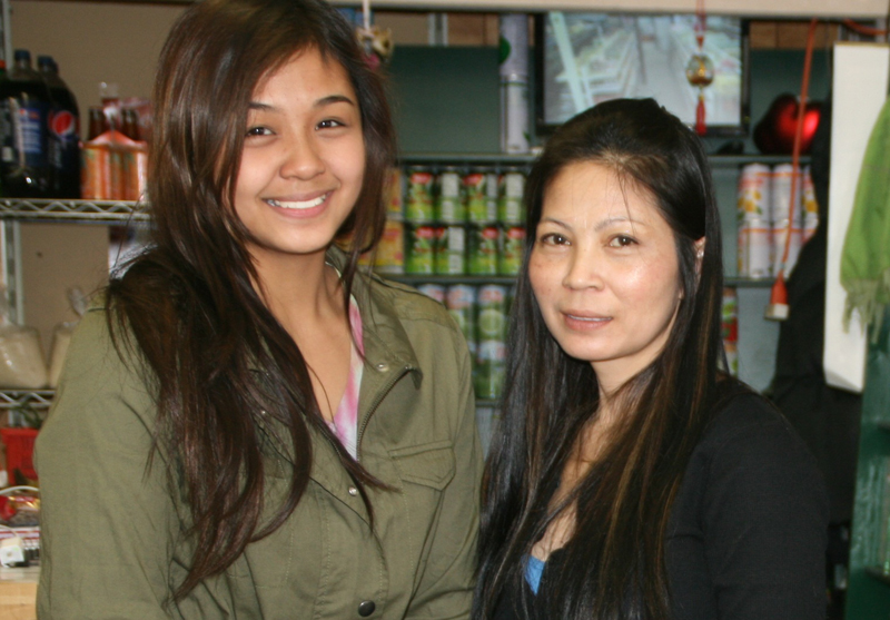 Jessica Yeang (left) and her sister Doeum Meas.