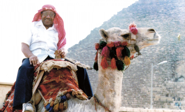 Above: James Melvin Young Sr. riding a camel in Egypt; photo courtesy Patricia Anita Young. Below: Patricia Anita Young; photo by Diego Vazquez Jr.