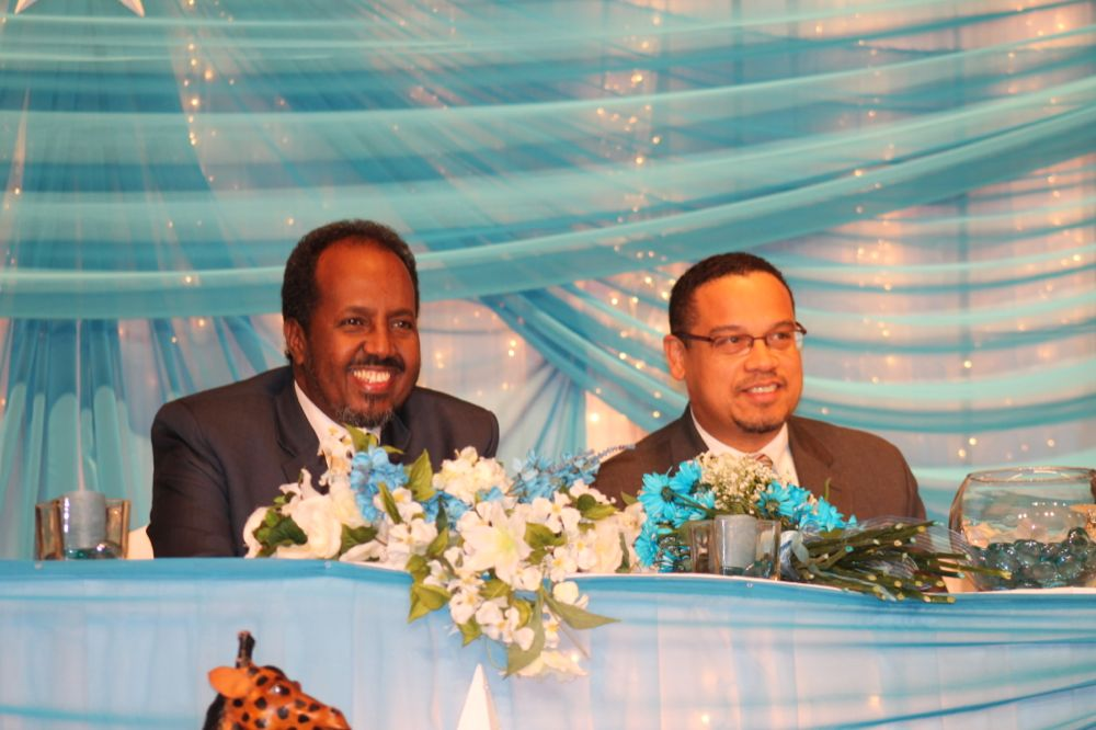 Somali President Hassan Sheikh Mohamud  and Minneapolis Congressional Representative Keith Ellison