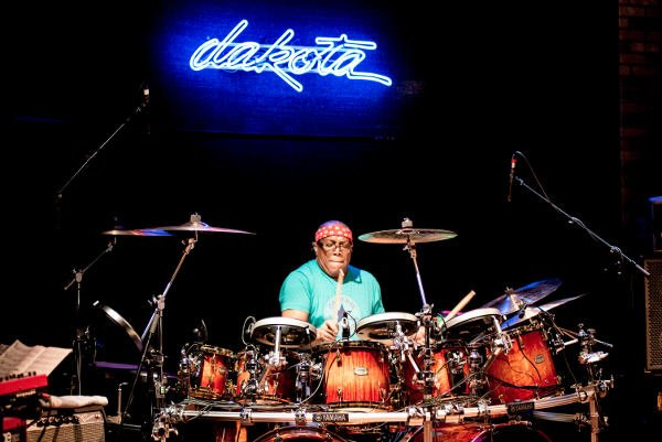 Billy Cobham on the drums (Photos by Keith Tolar)