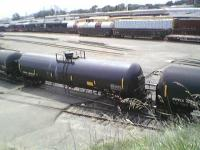 """One of the .111 """"Oil"""" railcars."""