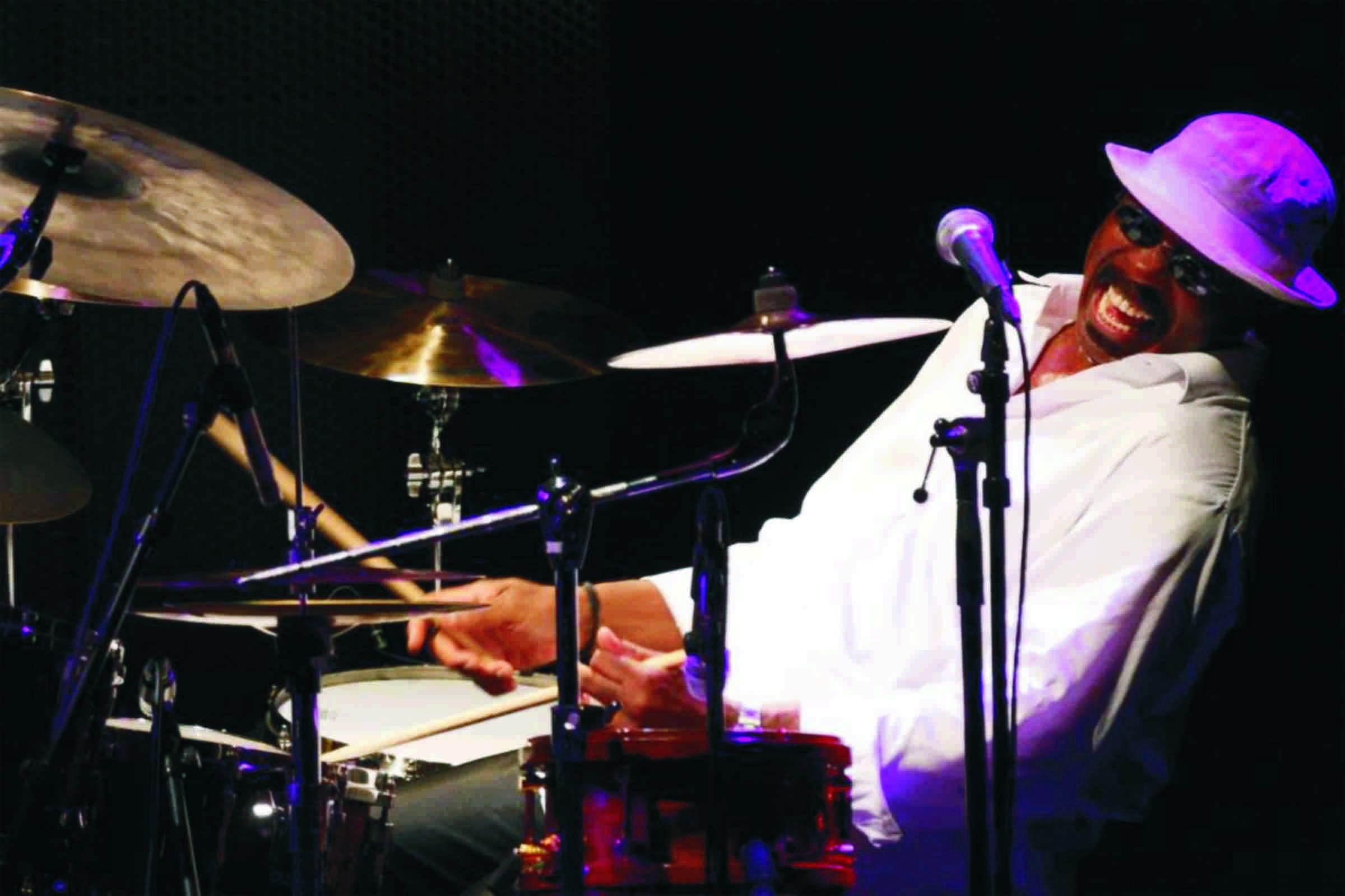 (Photo courtesy of Selby Ave JazzFest) Festival headliner Harvey Mason plays the drums.