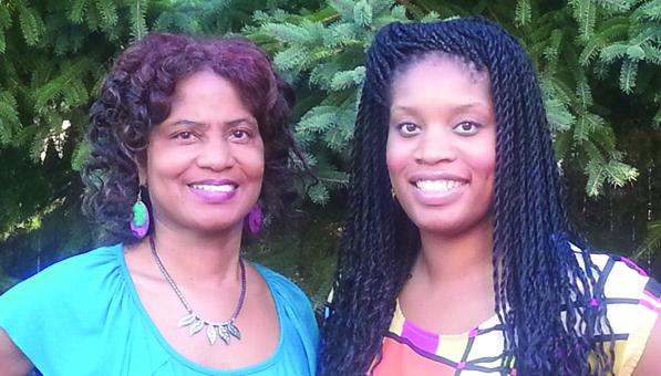 (Photos courtesy of the authors) Authors Linda and Nneka Onyilofor