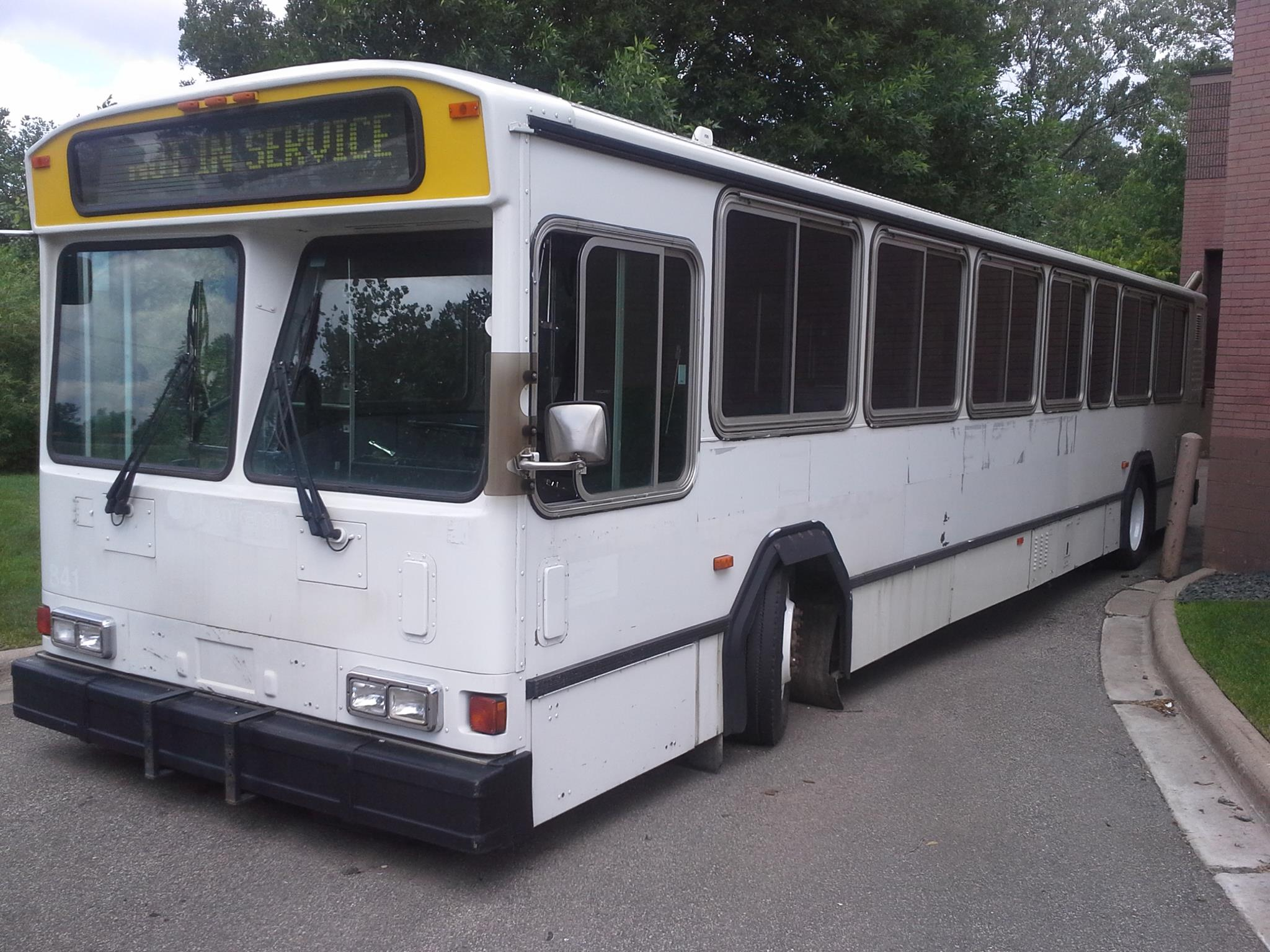 (Photo courtesy of Twin Cities Mobile Market) Soon this empty bus will be carting around food to areas that have poor access to fresh produce and other healthy whole foods.