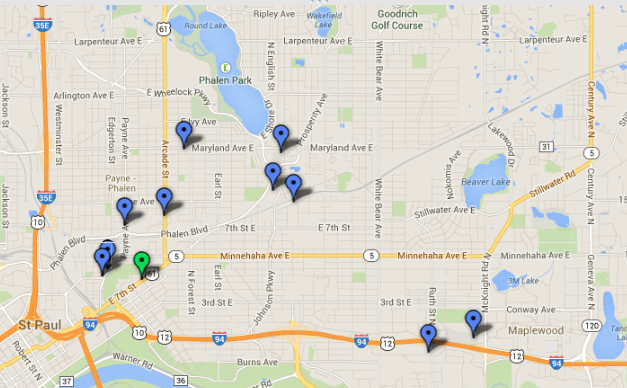 Scroll down for interactive map showing grocery stores.
