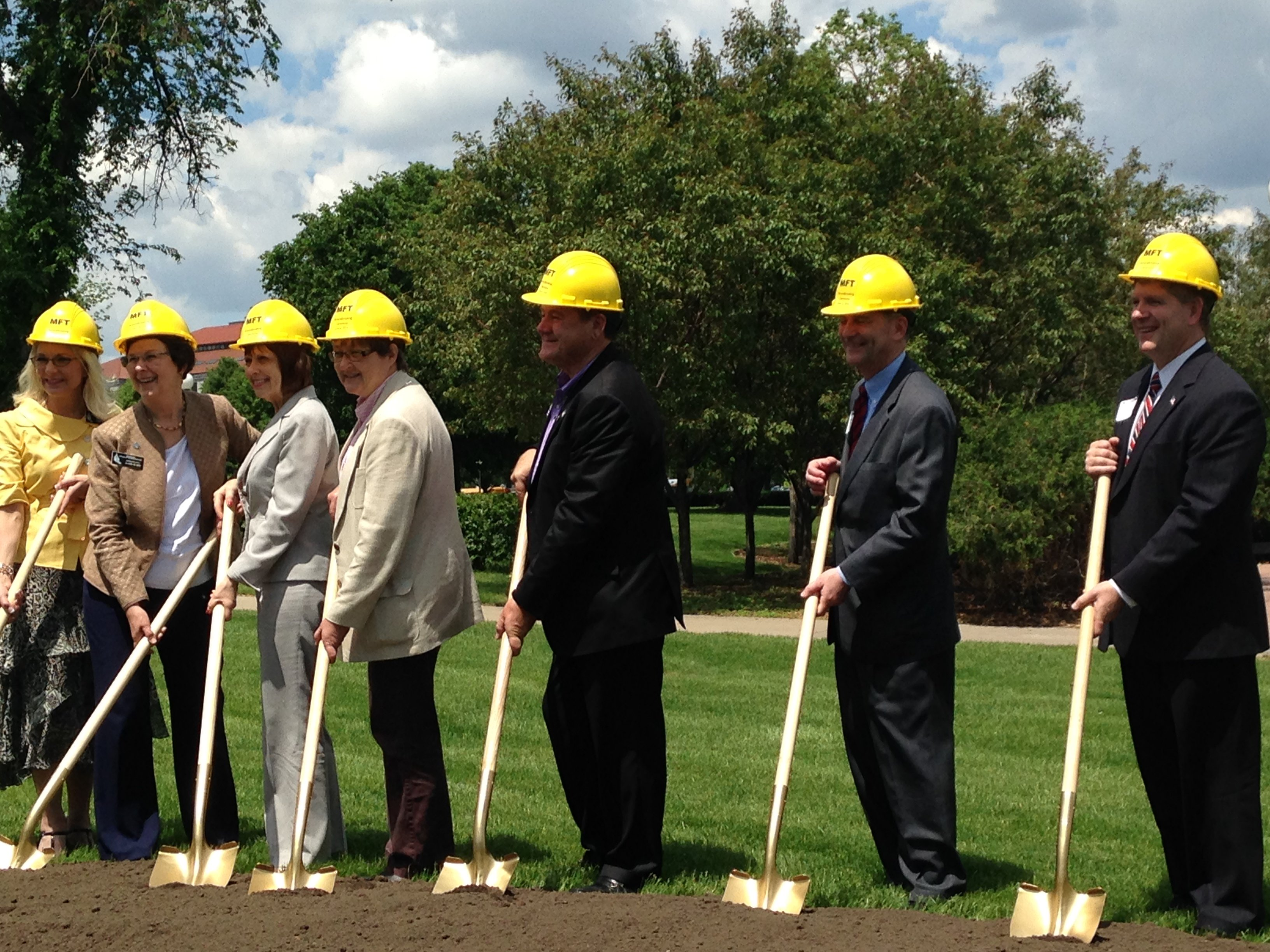 Minnesota Military Family Tribute groundbreaking, Capitol grounds, St Paul, Mn - 04 June 2014