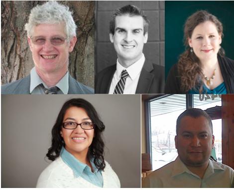 Clockwise from upper left: Dough Mann, Andrew Minck, Rebecca Gagnon, Ira Jourdain, Iris Altamirano