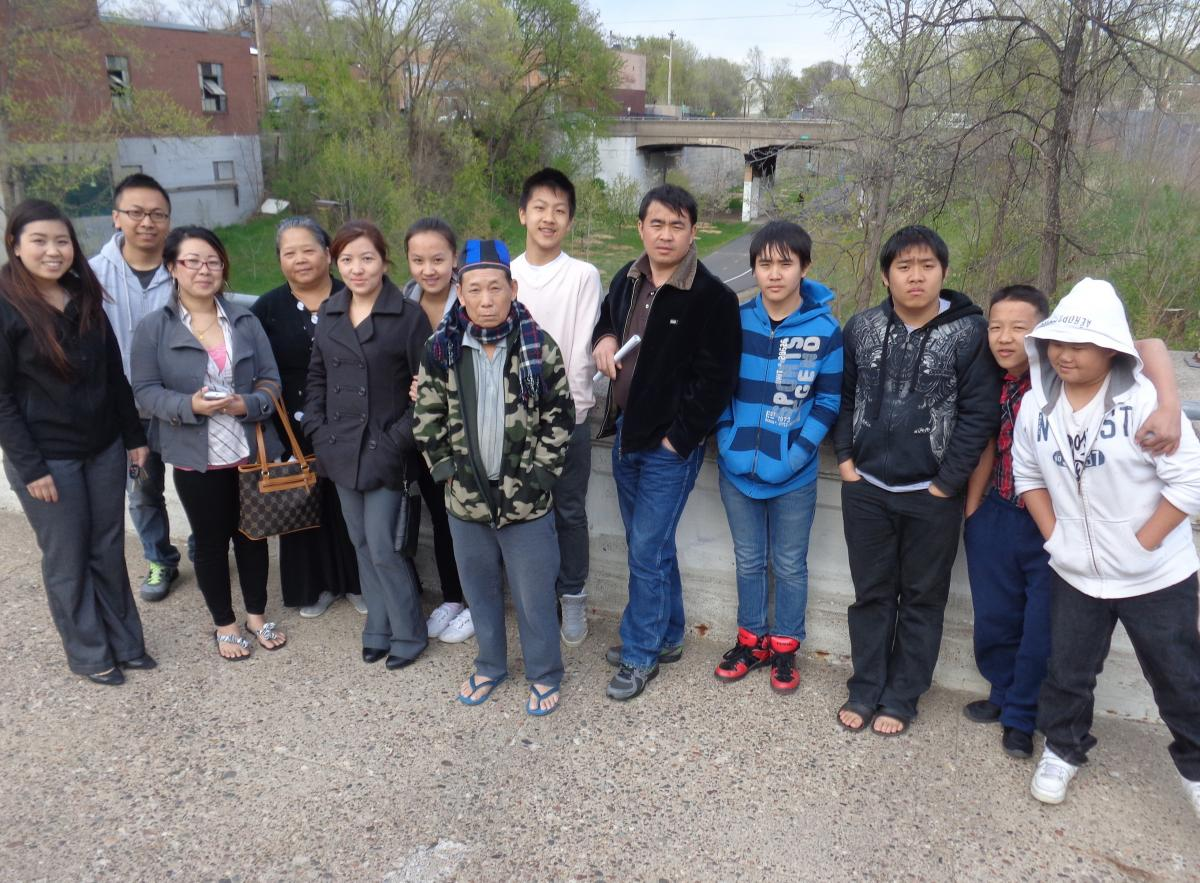 North Minneapolis Hmong check out Midtown Greenway