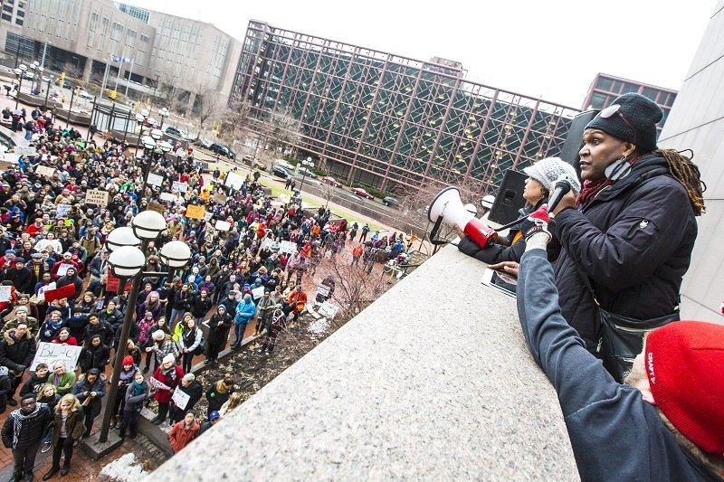 (Photo by Anna Min) 2,400 people have RSVP'd on Facebook to attend the Black Lives Matter protest at the Mall of America on Dec. 20. More than a thousand protesters rallied last week in downtown Minneapolis.